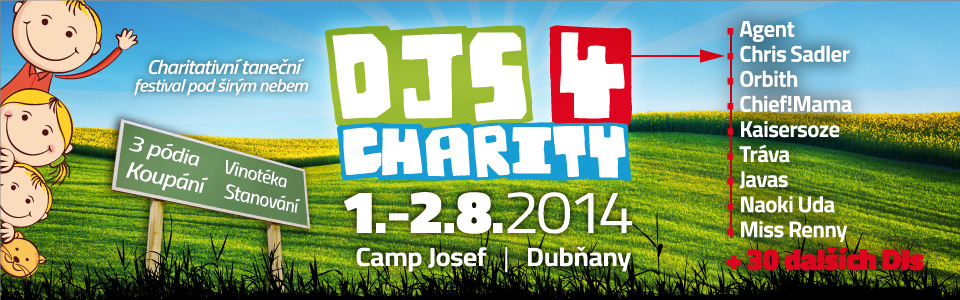 DJs 4 Charity 2014 – DJs o prázdninách potřetí zahrají pro charitu
